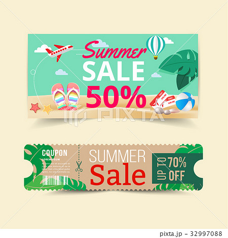 Tag price offer and promotion summer.のイラスト素材 [32997088] - PIXTA