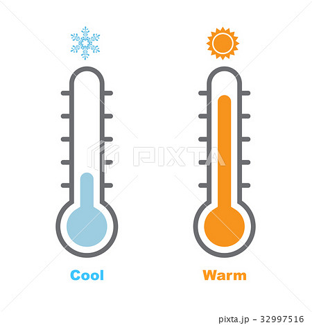 Thermometer, Cool and Warm-Vector Illustration 32997516