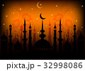 Card for greeting with Ramadan 32998086