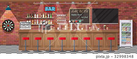 Interior of pub, cafe or bar. 32998348