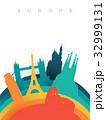 Travel Europe 3d paper cut world landmarks 32999131