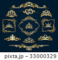ビクトリア朝 金色 黄金色のイラスト 33000329