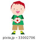 サッカー 男の子 サッカーボールのイラスト 33002706