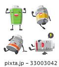 バッテリー 電池 アイコンのイラスト 33003042