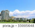 夏の青空とマンションの風景 33005648