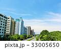 夏の青空 綺麗なマンション街 33005650