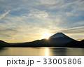 富士山の夜明け 33005806