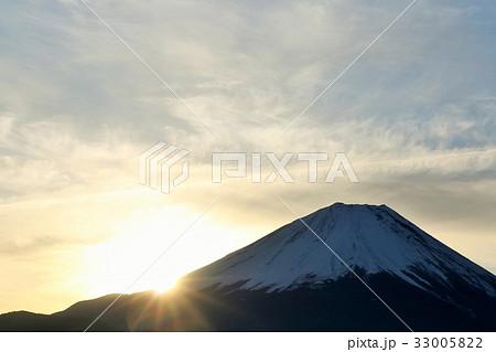 富士山と朝の光 33005822