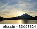 冬の朝 富士山と日の出 33005824