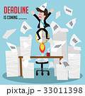 businessman  work with deadline is coming soon. 33011398