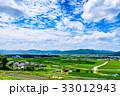 田園風景 夏 青空 33012943