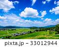 田園風景 夏 青空の写真 33012944