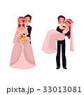 花婿 嫁 新婦のイラスト 33013081