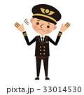 スーツケース パイロット お手上げのイラスト 33014530