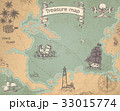 地図 海 マリンのイラスト 33015774