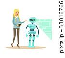 ロボット 概念 キャリアウーマンのイラスト 33016766
