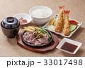 焼肉と海老フライの定食 ステーキとエビフライ定食  33017498