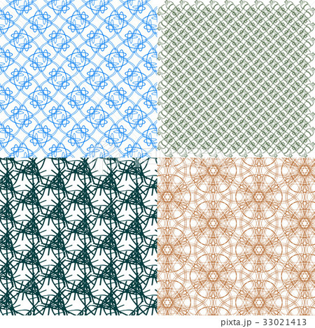 Set of abstract vintage geometric wallpaper patterのイラスト素材 [33021413] - PIXTA