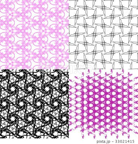 Set of abstract vintage geometric wallpaper patterのイラスト素材 [33021415] - PIXTA