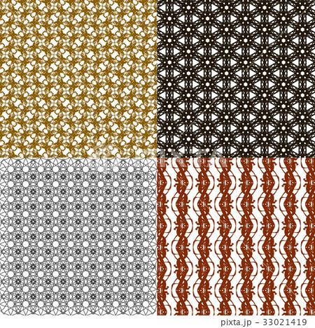 Set of abstract vintage geometric wallpaper patterのイラスト素材 [33021419] - PIXTA