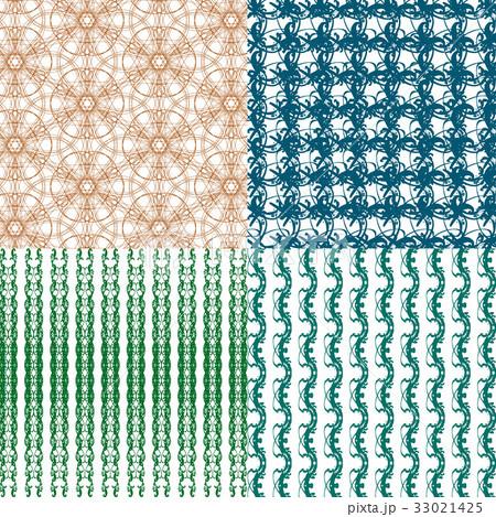 Set of abstract vintage geometric wallpaper patterのイラスト素材 [33021425] - PIXTA