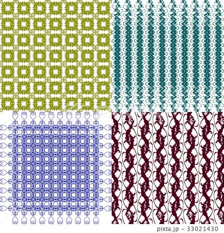 Set of abstract vintage geometric wallpaper patterのイラスト素材 [33021430] - PIXTA