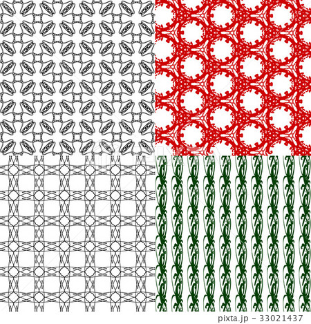 Set of abstract vintage geometric wallpaper patterのイラスト素材 [33021437] - PIXTA