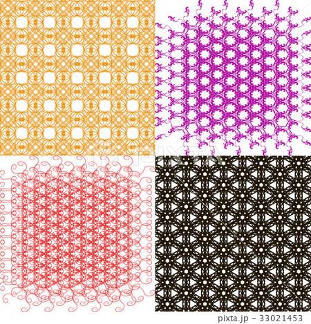 Set of abstract vintage geometric wallpaper patterのイラスト素材 [33021453] - PIXTA