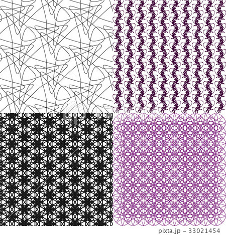Set of abstract vintage geometric wallpaper patterのイラスト素材 [33021454] - PIXTA