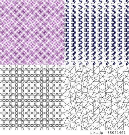 Set of abstract vintage geometric wallpaper patterのイラスト素材 [33021461] - PIXTA