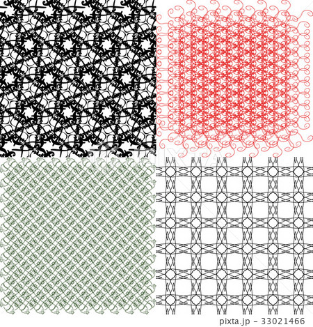 Set of abstract vintage geometric wallpaper patterのイラスト素材 [33021466] - PIXTA