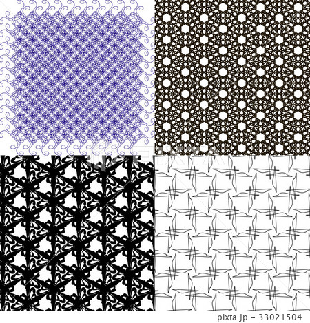 Set of abstract vintage geometric wallpaper patterのイラスト素材 [33021504] - PIXTA