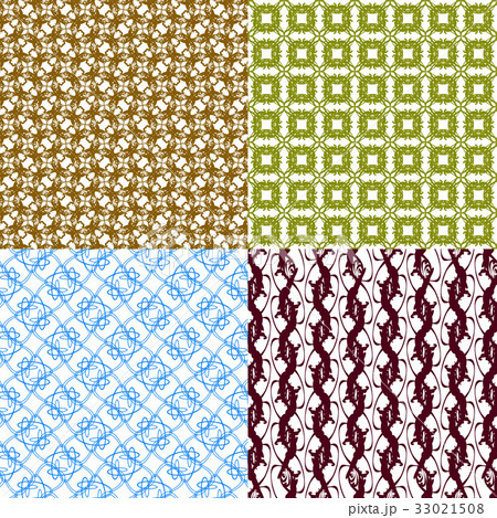 Set of abstract vintage geometric wallpaper patterのイラスト素材 [33021508] - PIXTA