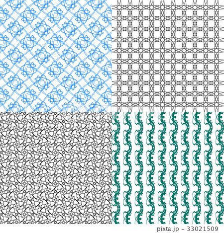 Set of abstract vintage geometric wallpaper patterのイラスト素材 [33021509] - PIXTA