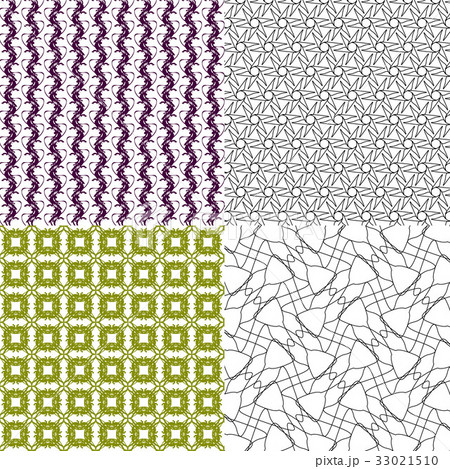 Set of abstract vintage geometric wallpaper patterのイラスト素材 [33021510] - PIXTA