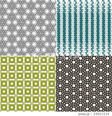 Set of abstract vintage geometric wallpaper patterのイラスト素材 [33021514] - PIXTA