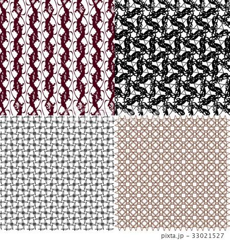 Set of abstract vintage geometric wallpaper patterのイラスト素材 [33021527] - PIXTA