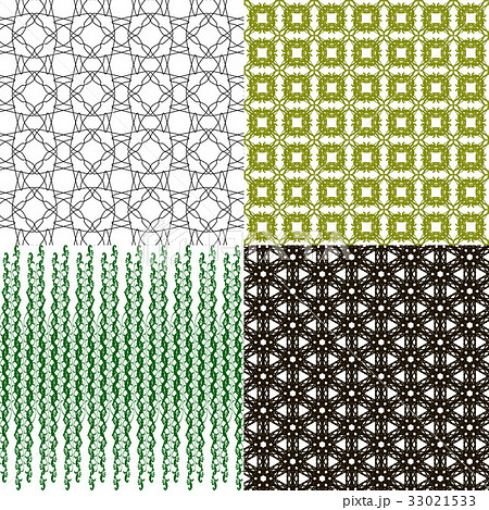 Set of abstract vintage geometric wallpaper patterのイラスト素材 [33021533] - PIXTA