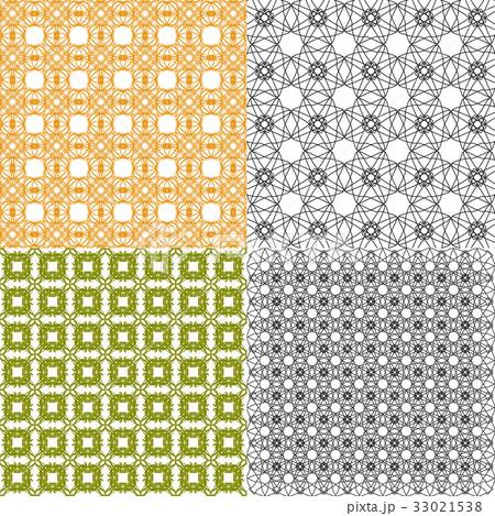 Set of abstract vintage geometric wallpaper patterのイラスト素材 [33021538] - PIXTA
