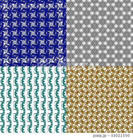 Set of abstract vintage geometric wallpaper patterのイラスト素材 [33021550] - PIXTA