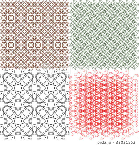 Set of abstract vintage geometric wallpaper patterのイラスト素材 [33021552] - PIXTA