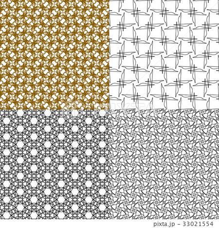 Set of abstract vintage geometric wallpaper patterのイラスト素材 [33021554] - PIXTA