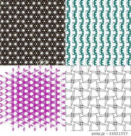 Set of abstract vintage geometric wallpaper patterのイラスト素材 [33021557] - PIXTA