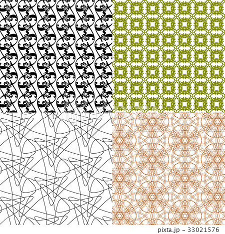 Set of abstract vintage geometric wallpaper patterのイラスト素材 [33021576] - PIXTA