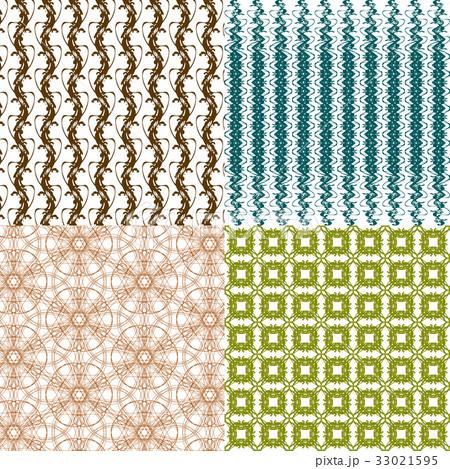 Set of abstract vintage geometric wallpaper patterのイラスト素材 [33021595] - PIXTA