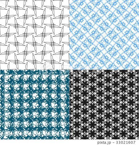 Set of  geometric pattern in op art design. Vectorのイラスト素材 [33021607] - PIXTA