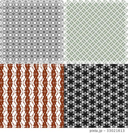 Set of  geometric pattern in op art design. Vectorのイラスト素材 [33021613] - PIXTA