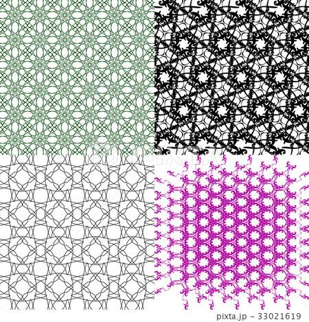 Set of  geometric pattern in op art design. Vectorのイラスト素材 [33021619] - PIXTA