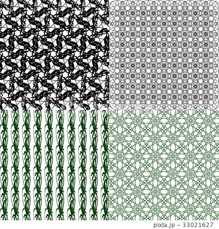 Set of  geometric pattern in op art design. Vectorのイラスト素材 [33021627] - PIXTA