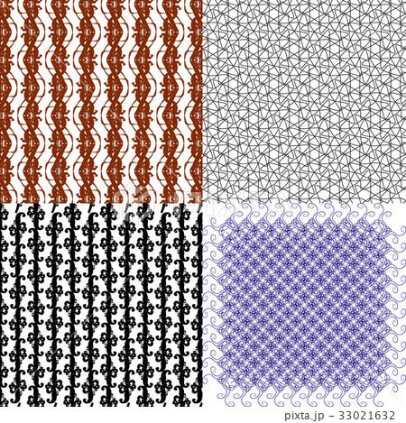 Set of  geometric pattern in op art design. Vectorのイラスト素材 [33021632] - PIXTA